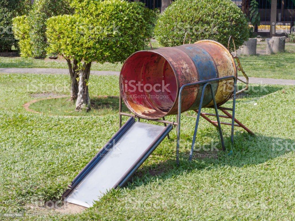 old children slider. stock photo