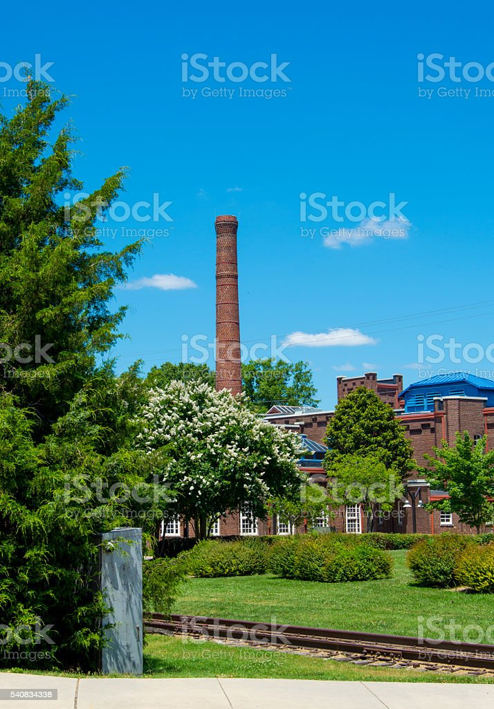 Old Chimney in Durham, North Carolina stock photo