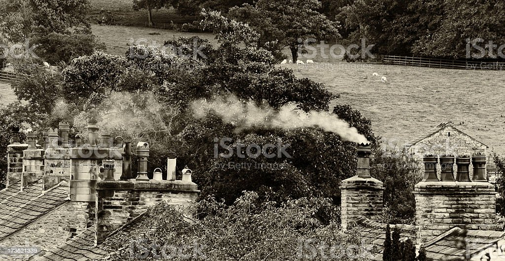 Old chimneys royalty-free stock photo