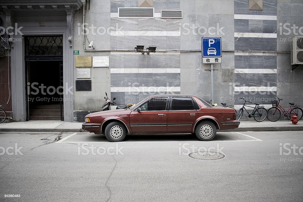 Old chinese car royalty-free stock photo