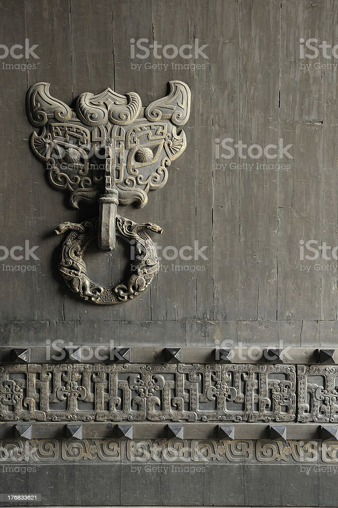 Old Chinese door royalty-free stock photo