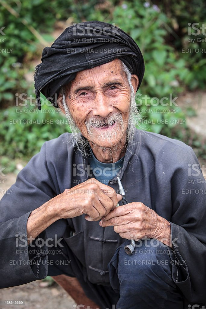 Old chinese man royalty-free stock photo