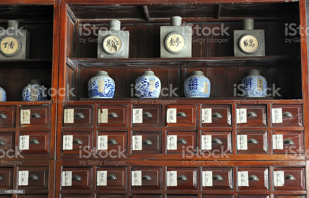 Old Chinese pharmacy royalty-free stock photo