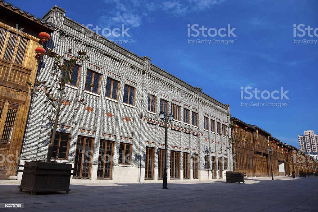 Old Chinese style buildings royalty-free stock photo