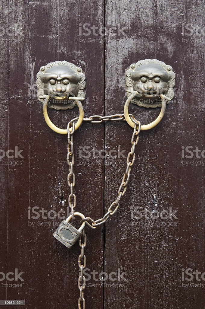Old Chinese style  door royalty-free stock photo