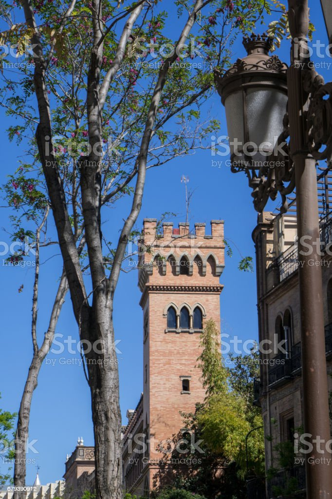 Old Christian Cathedral Architecture In Sevillia Seville Andalusia Spain royalty-free stock photo