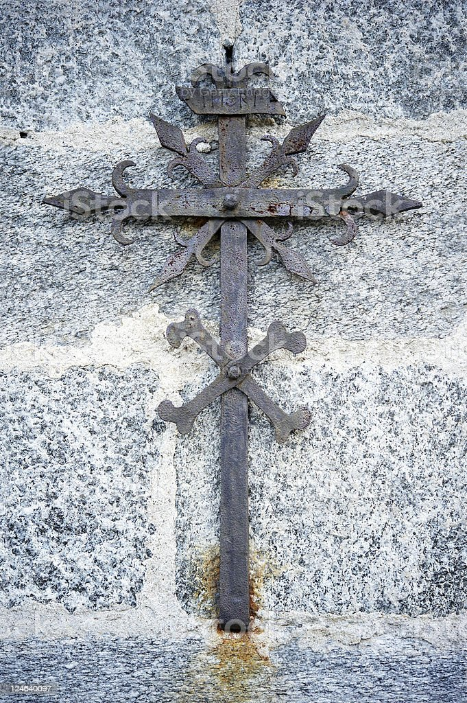 Old Christian Crucifix royalty-free stock photo