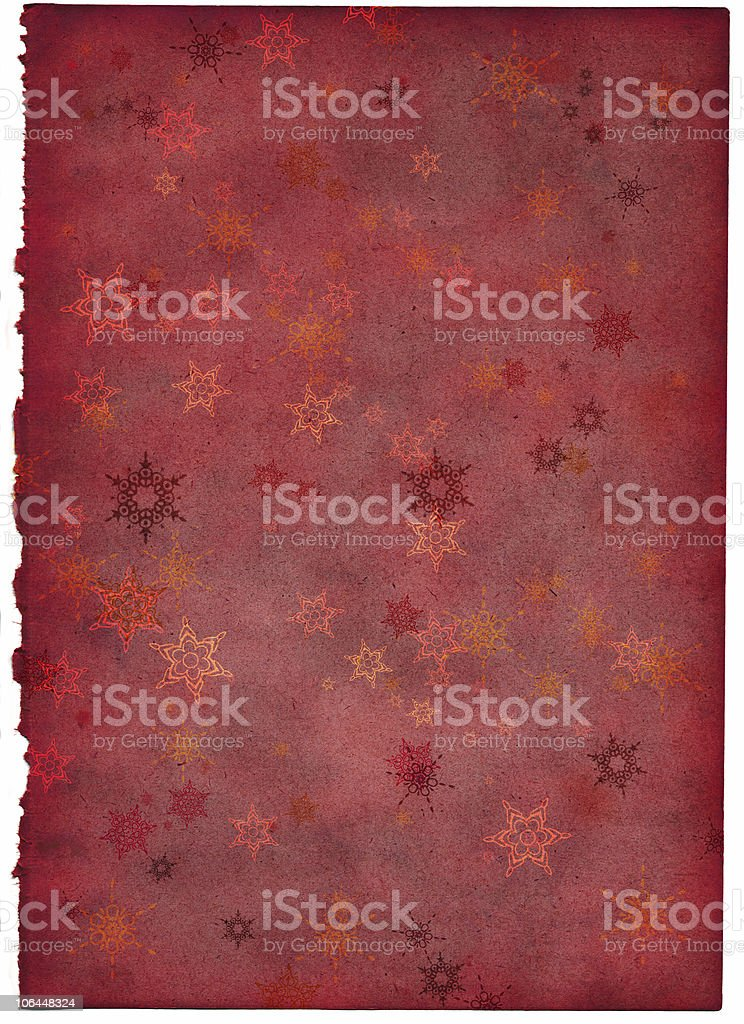 old christmas paper royalty-free stock photo