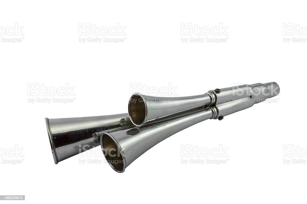 Old Chrome Blow Horn royalty-free stock photo
