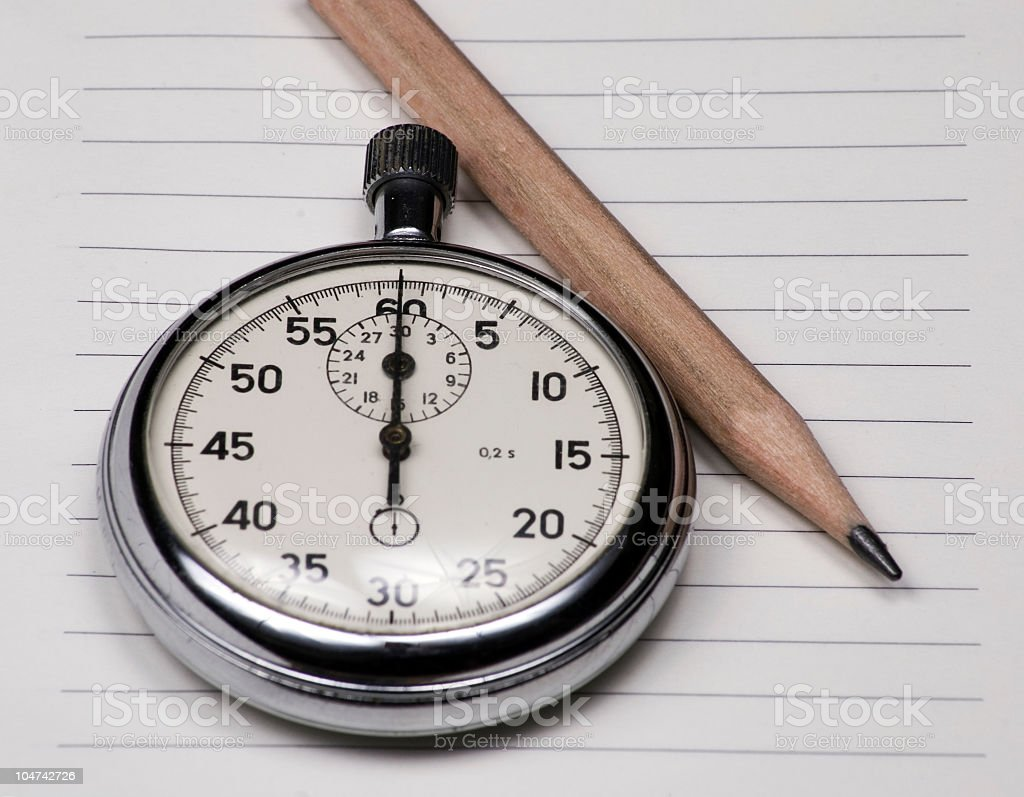 Old chronometer stock photo