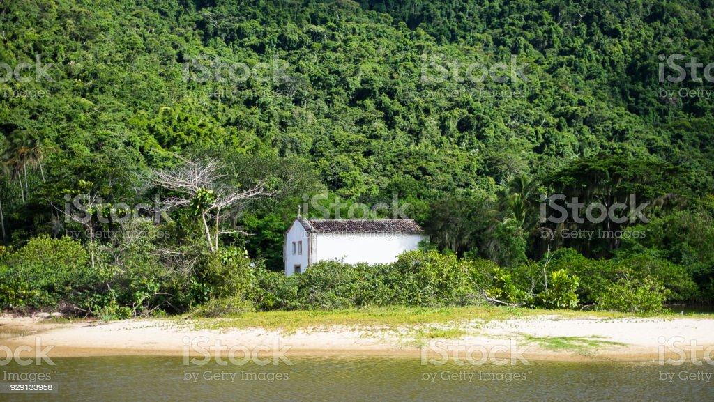 Old church around Paraty, Rio de Janeiro, Brazil stock photo