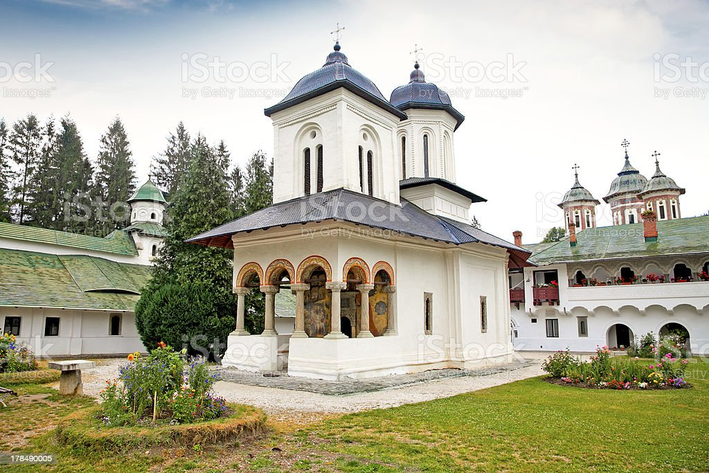 Old  Church at the Sinaia Monastery in Sinaia. Romania. royalty-free stock photo