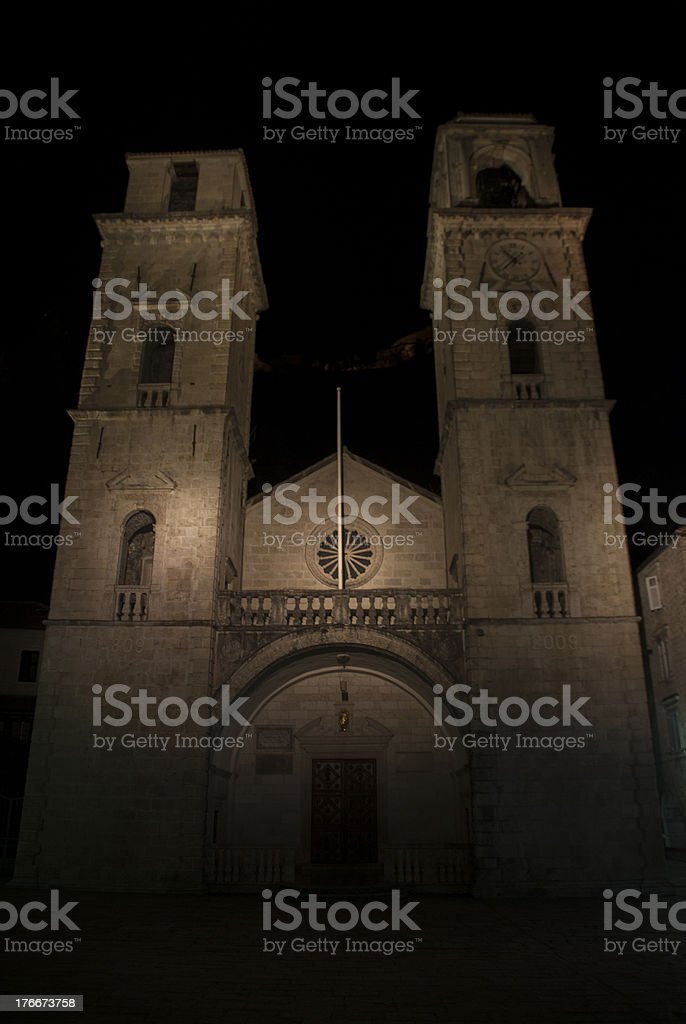Old church by night royalty-free stock photo