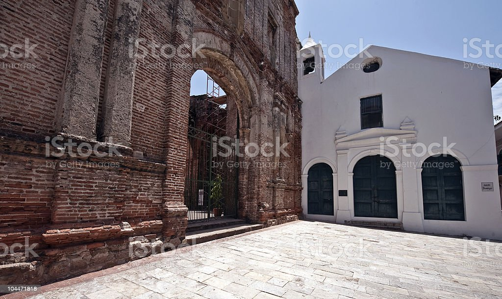 Old church Casco viejo Panama royalty-free stock photo