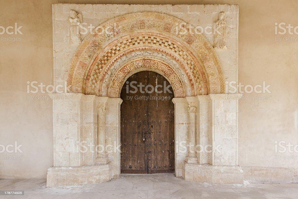 Old church door royalty-free stock photo