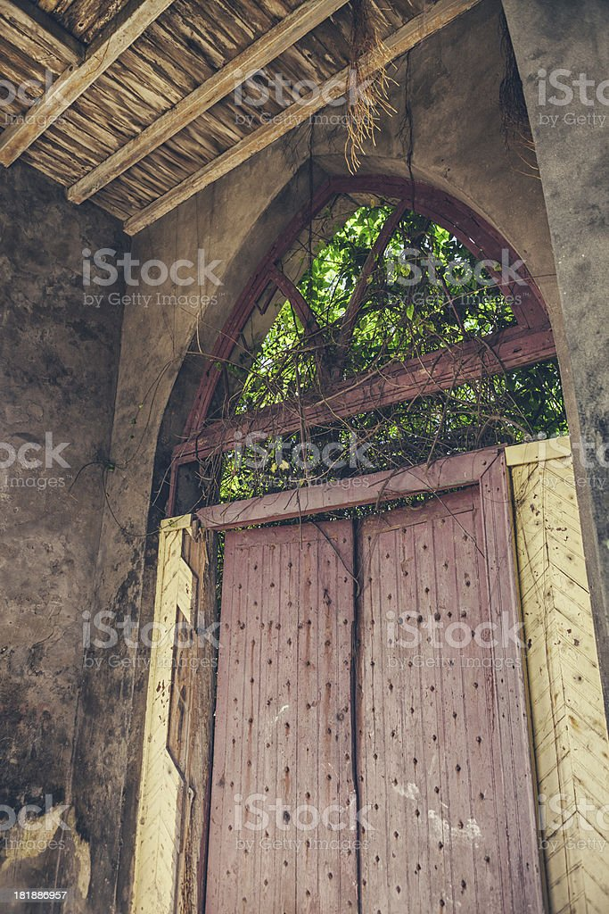 Old Church Door royalty-free stock photo