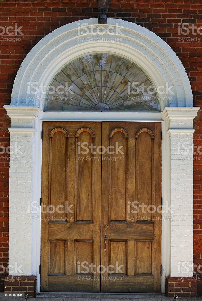 Old Church Doors and Arch royalty-free stock photo
