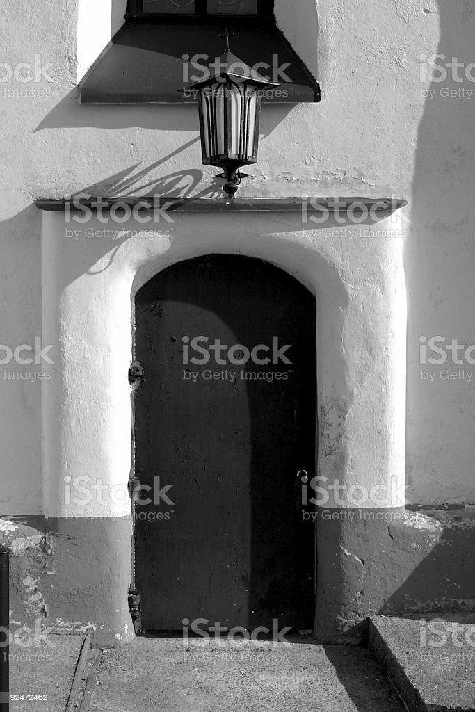 Old church doors royalty-free stock photo