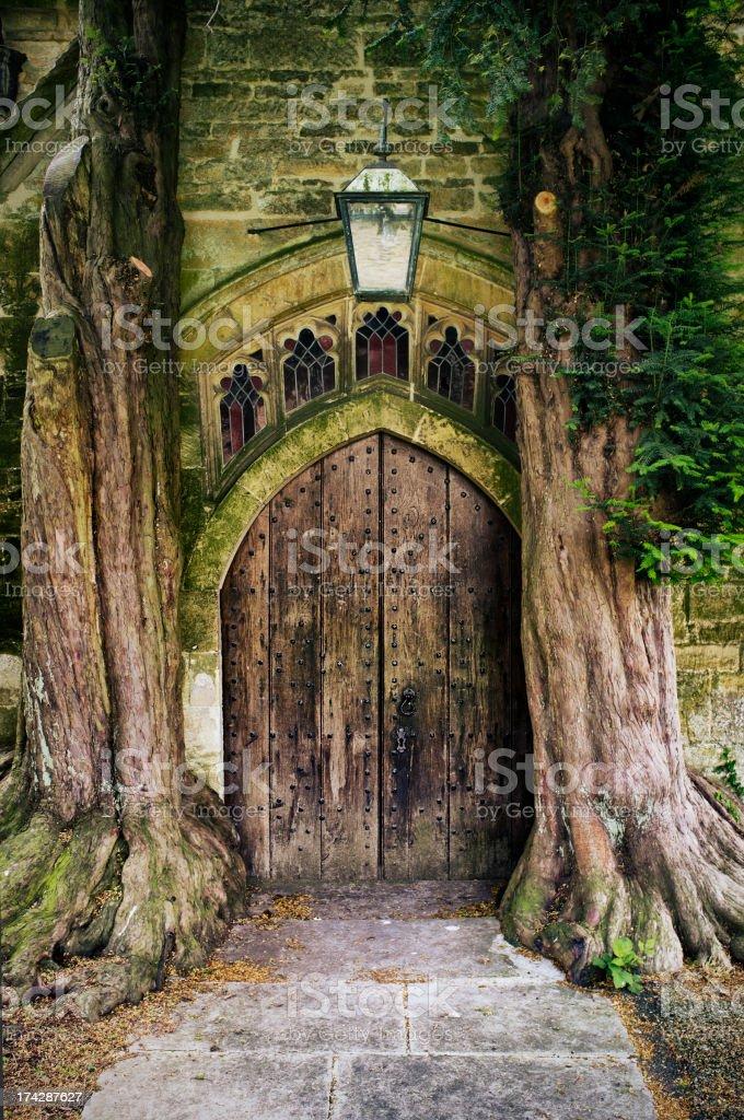 Old Church Doorway stock photo