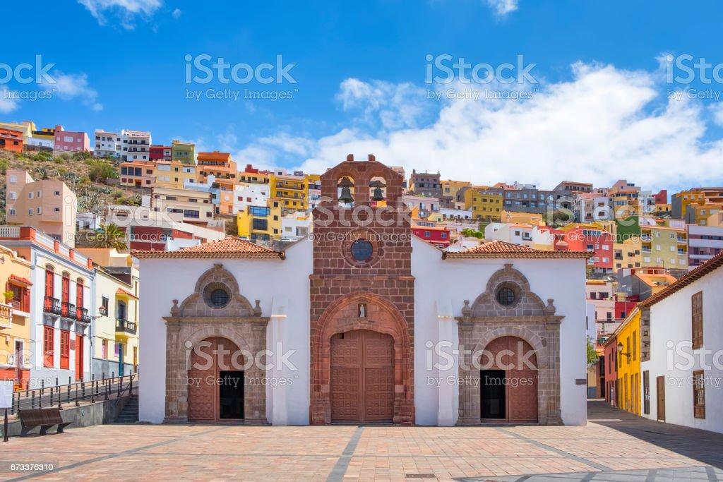 Old church Iglesia Matriz de la Asunción (San Sebastián de La Gomera) stock photo