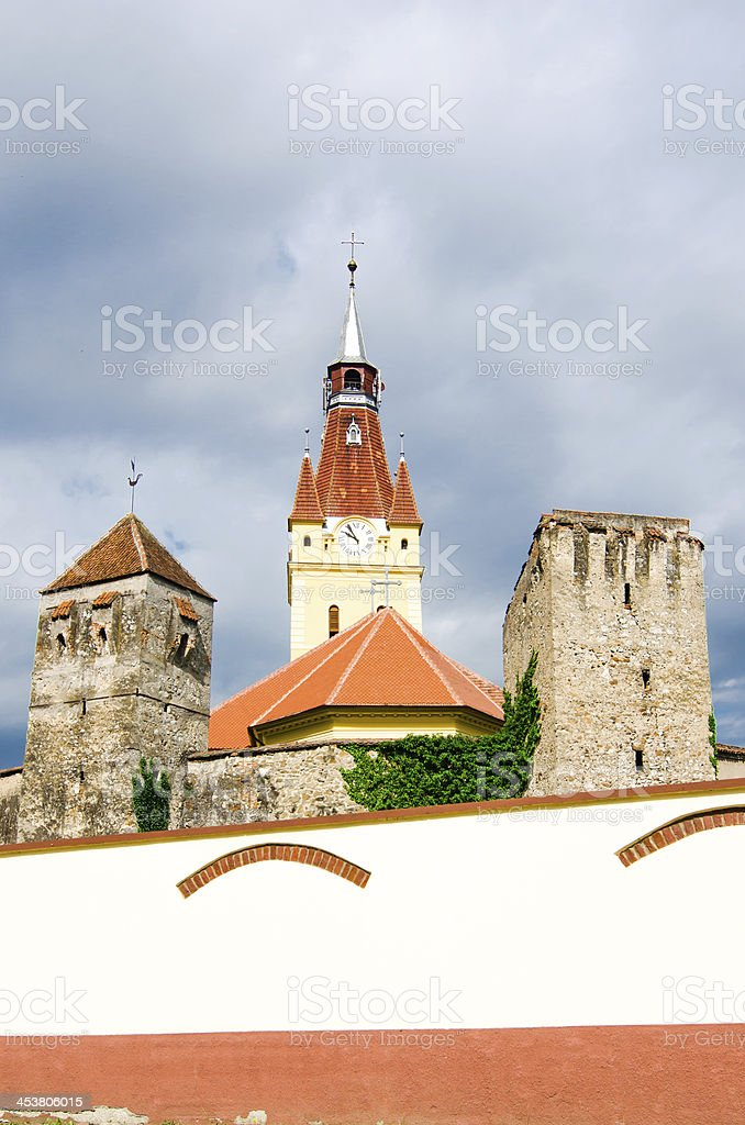 Old Church in Cristian, Brasov,Romania royalty-free stock photo