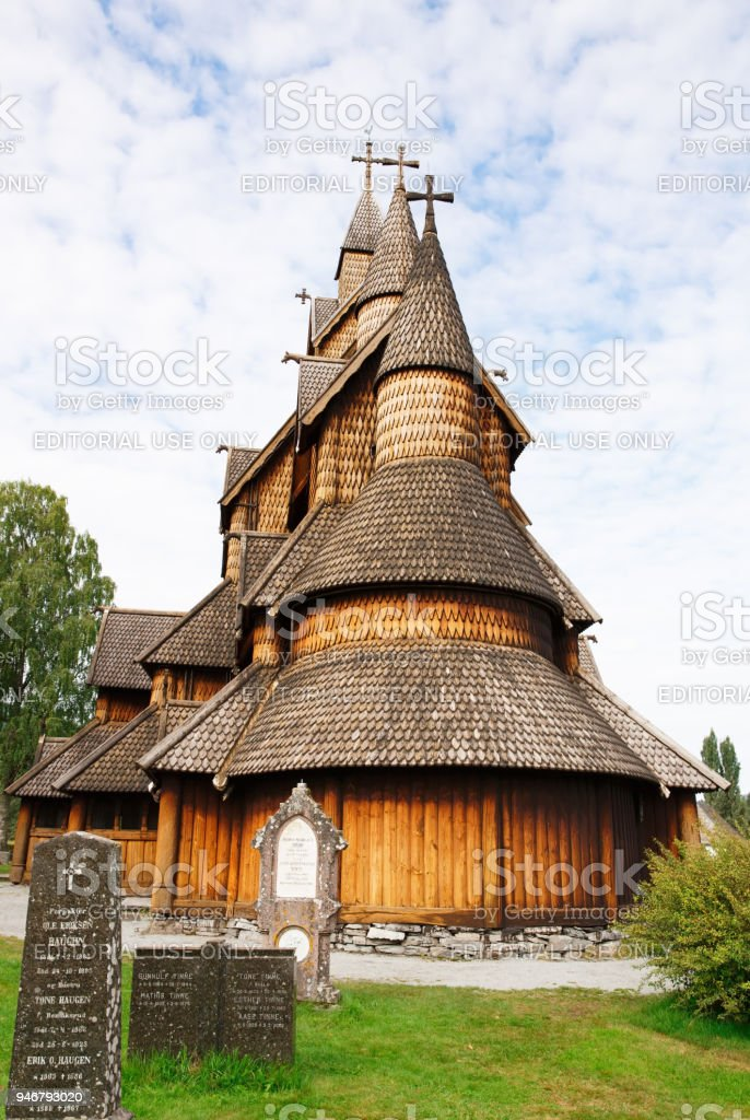 Old church in Norway stock photo