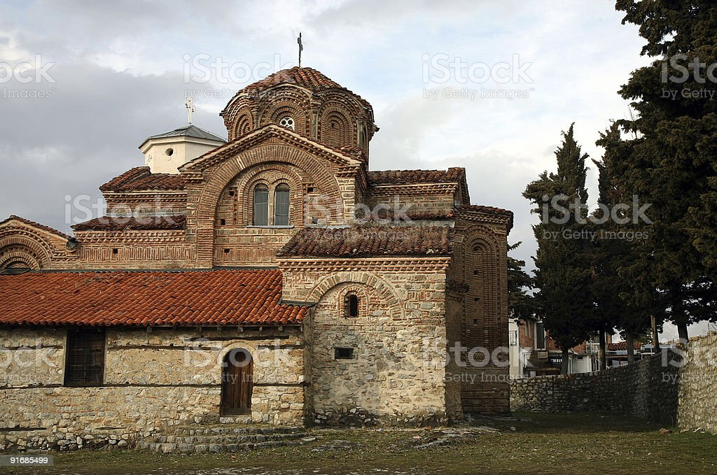 Old church in Ohrid royalty-free stock photo
