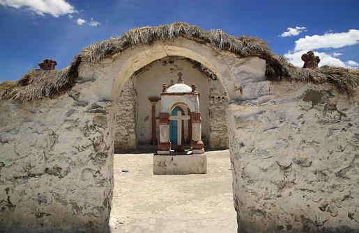 Old Church in Parinacota, Chile
