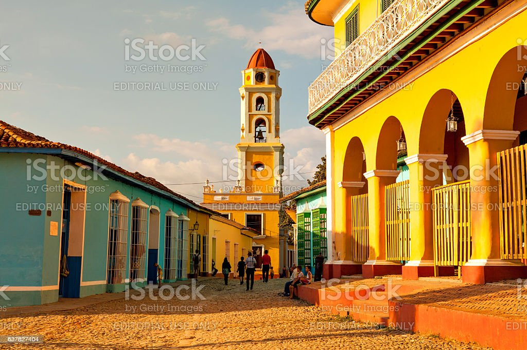 Old church in the colonial town of Trinidad stock photo