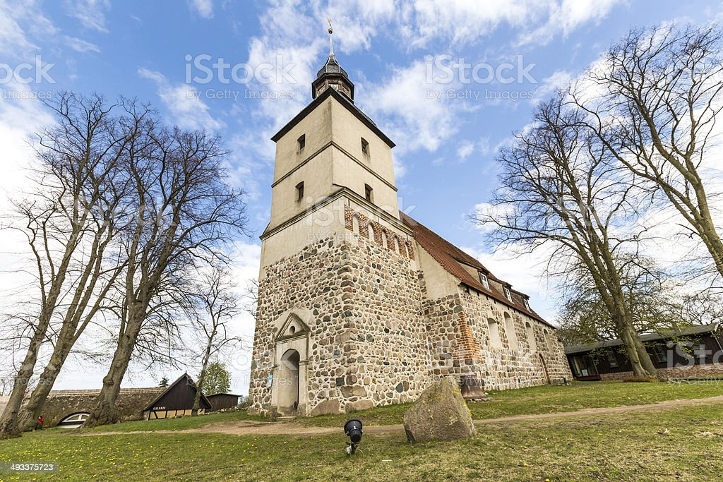 old church in the small village of Benz stock photo