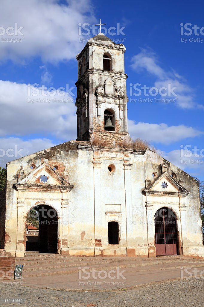 Old church in Trinidad royalty-free stock photo