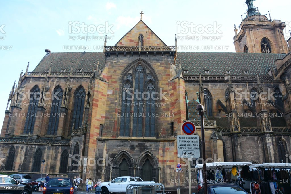 Old Church of Colmar, Alsace, France stock photo