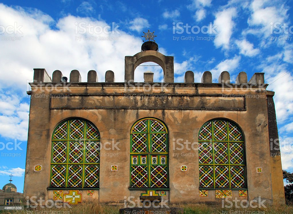 Old Church of St Mary of Zion, Axum, Ethiopia stock photo