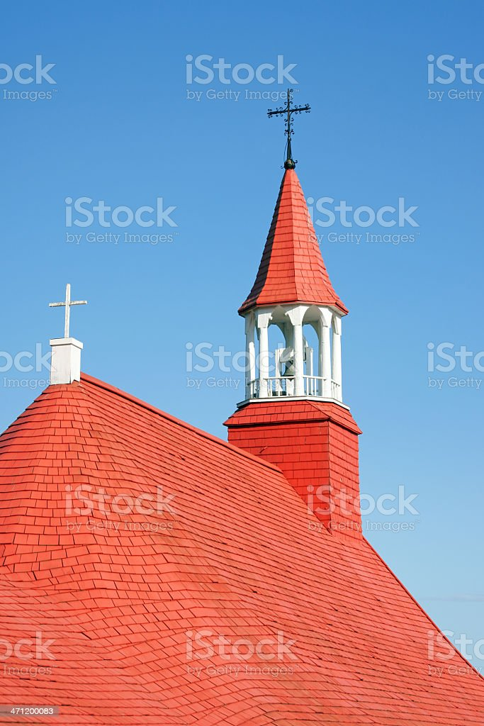 Old church of Tadoussac royalty-free stock photo