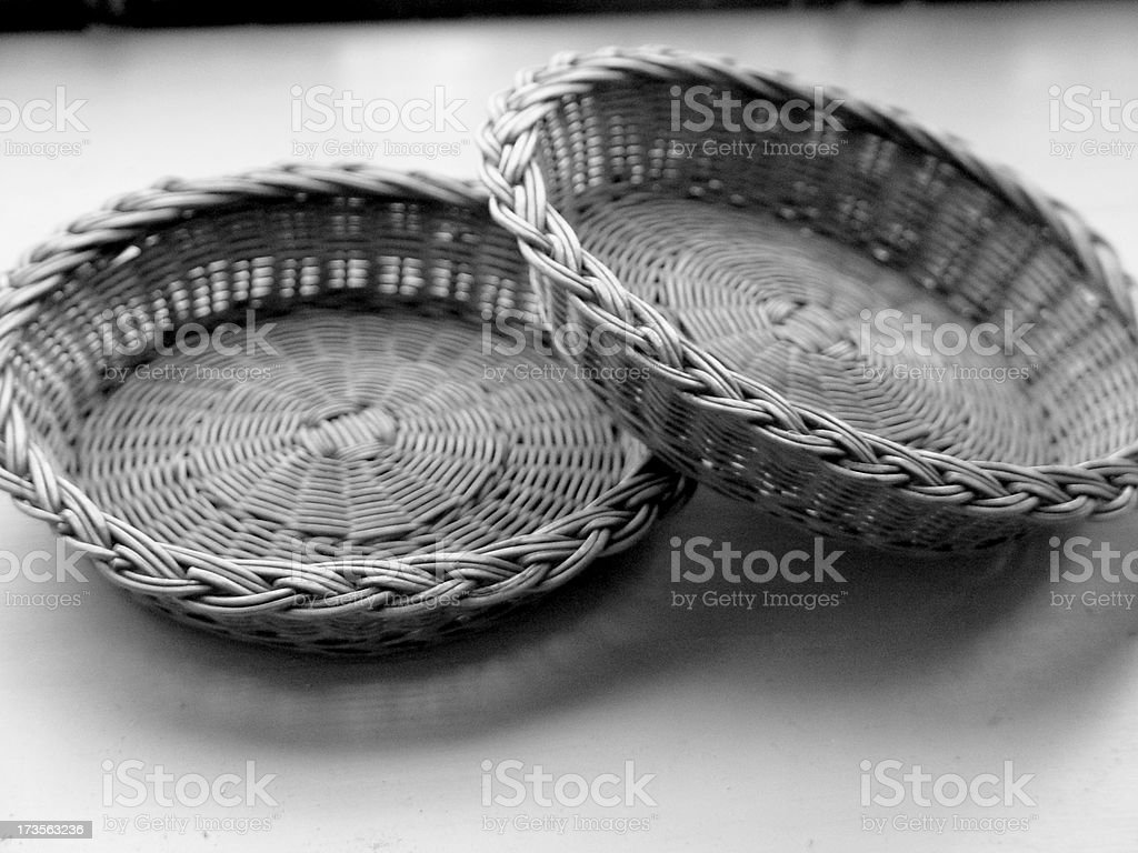 Old Church Offering Plates stock photo
