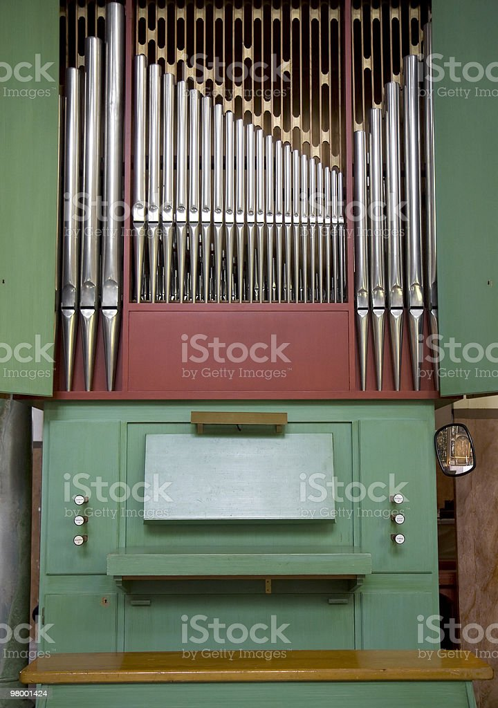 Old church organ royalty free stockfoto