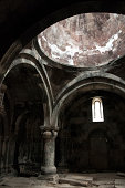 Interior of the medieval church in Alaverdi Armenia