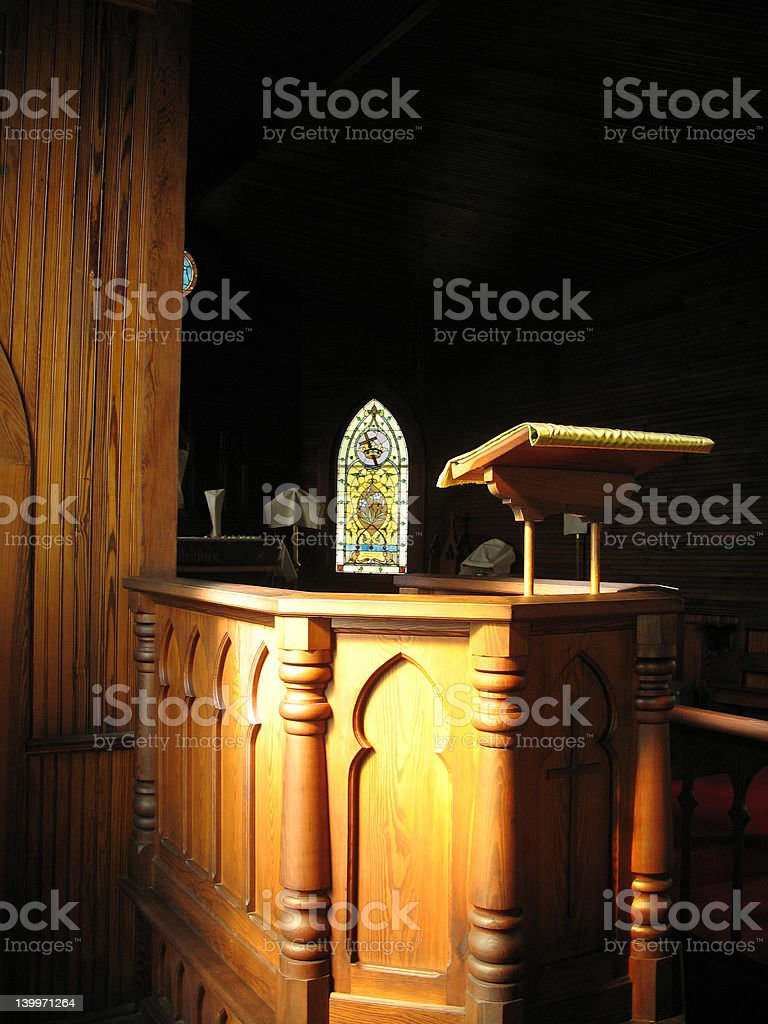 Old Church Pulpit royalty-free stock photo