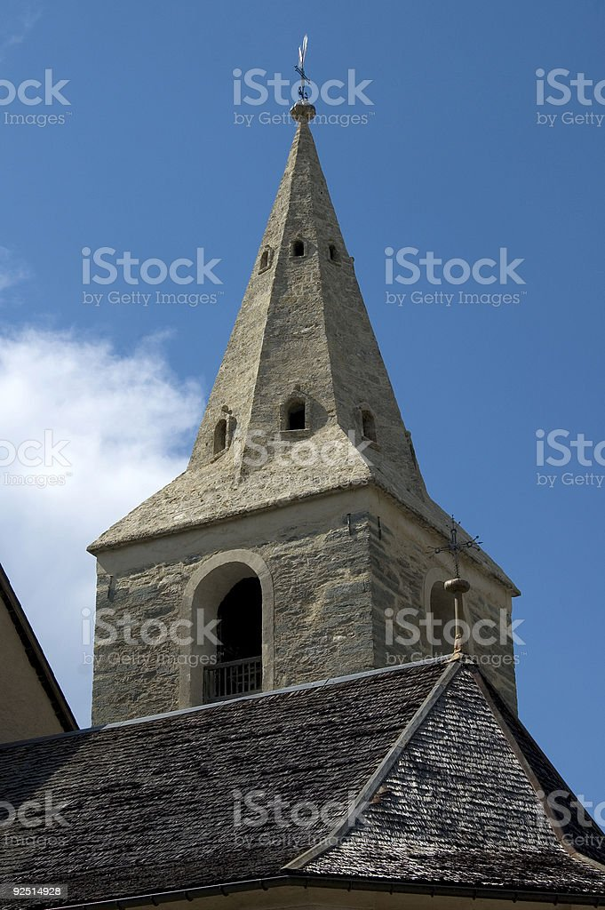 Old church tower , CH_05_02073_qs royalty-free stock photo