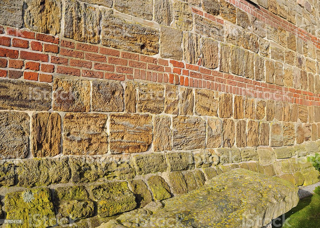 Old Church wall royalty-free stock photo