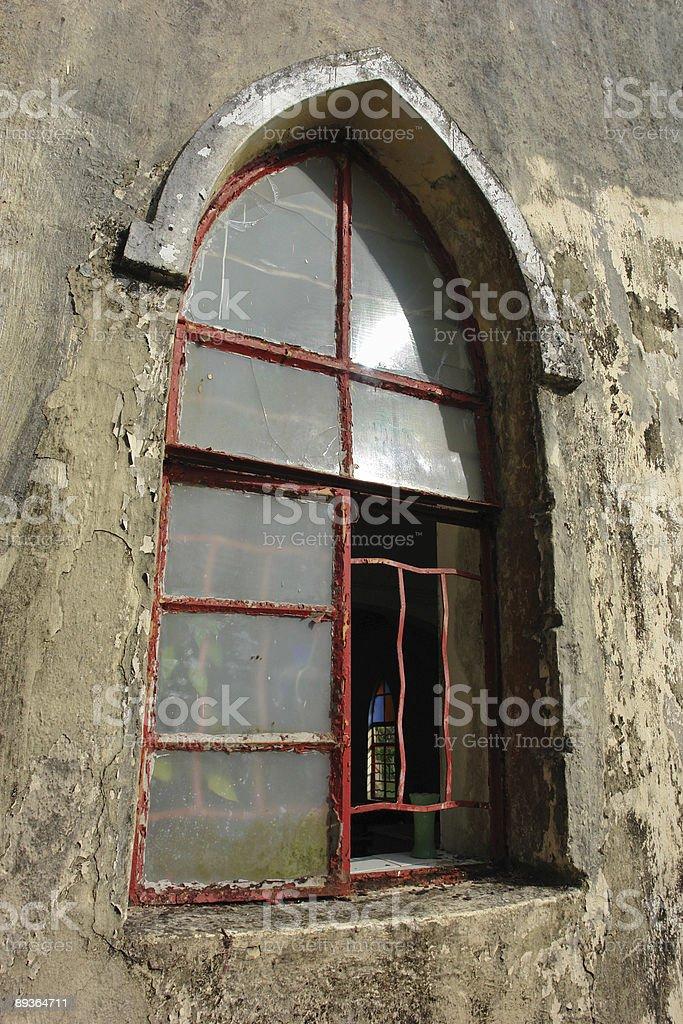 Old Church Window royaltyfri bildbanksbilder