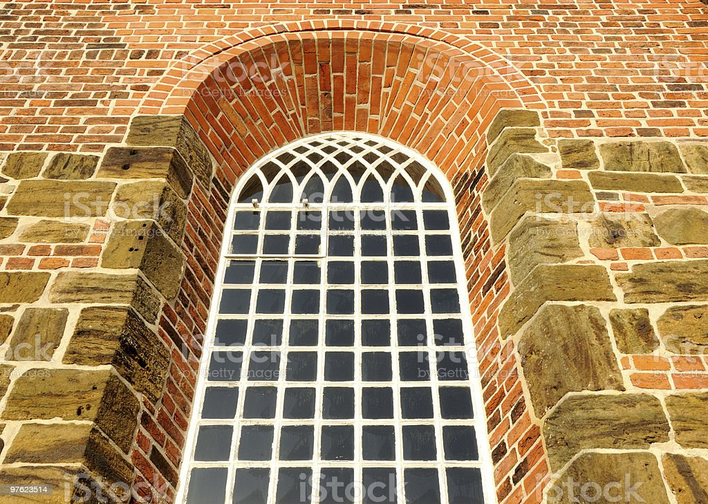 Old Church window royaltyfri bildbanksbilder