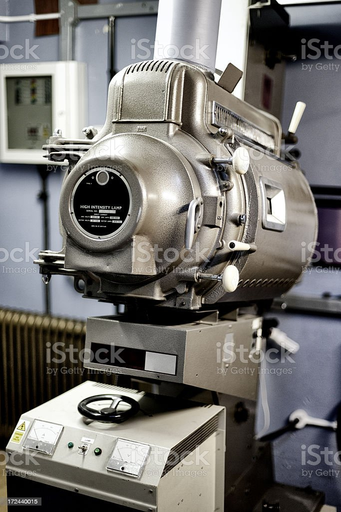 Old cinema movie projector royalty-free stock photo
