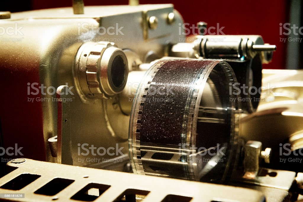 Old Cinema Projector With Film Royalty Free Stock Photo