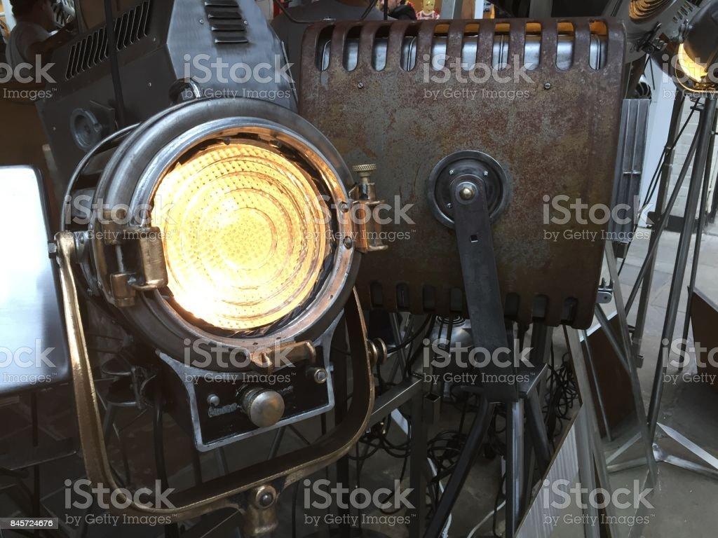 Old cinema reflector stock photo