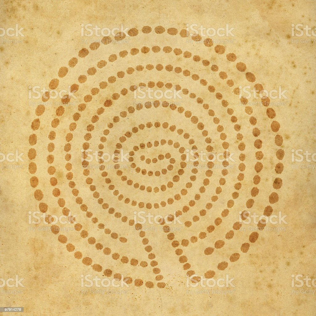 old circle labyrinth royalty-free stock photo
