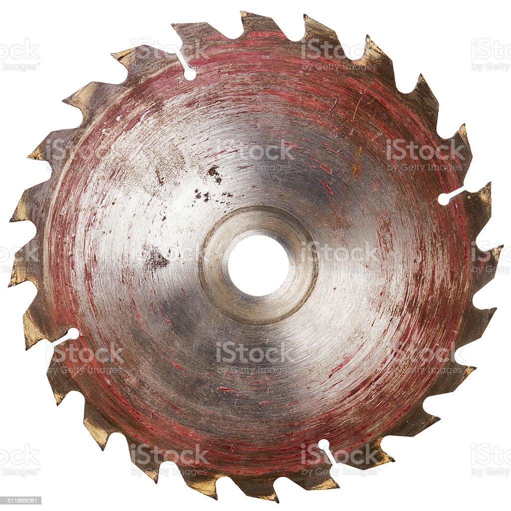 Old circular saw blade stock photo