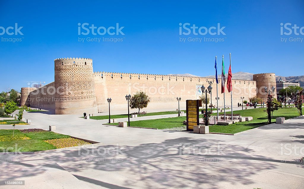 Old citadel Karmin Khan in the centre of Shiraz stock photo