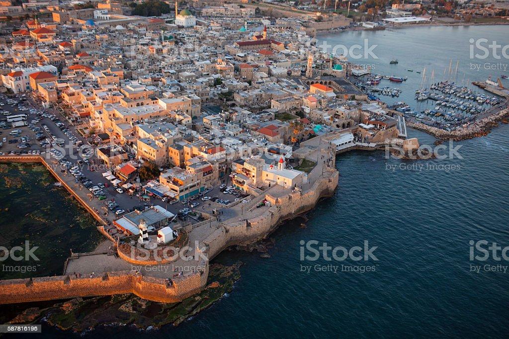 Old city Akko, Israel. stock photo