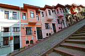 Colorful Old city Balat in Istanbul, Turkey.